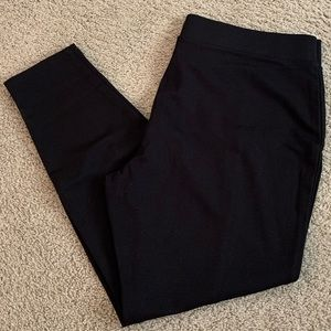 Like New! Faded Glory Black Leggings, Size XL